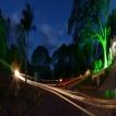 Panorámica nocturna Jardines Los Olivos